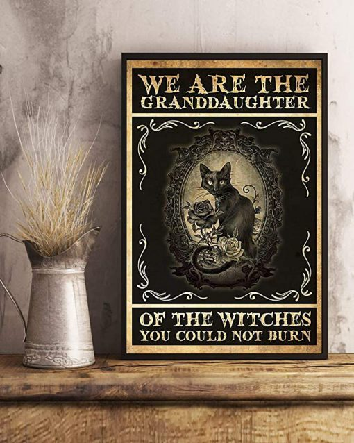 We are the granddaughter of the witches you could not burn cat poster 2