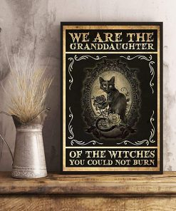 We are the granddaughter of the witches you could not burn cat poster 3