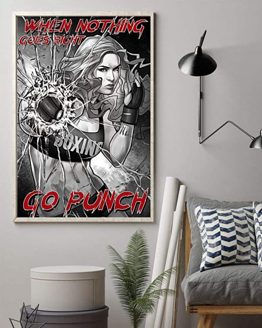When nothing goes right go punch boxing girl poster 1