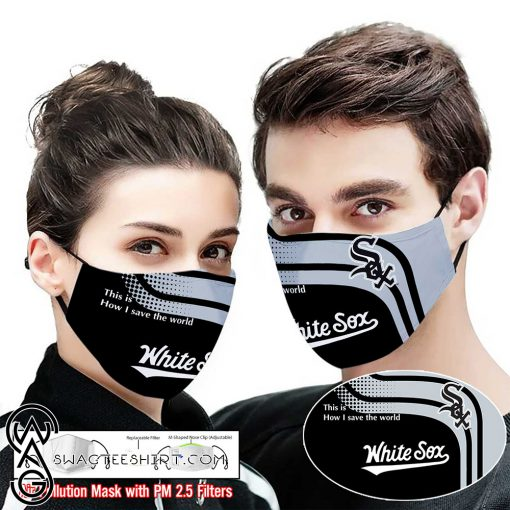 White sox this is how i save the world full printing face mask
