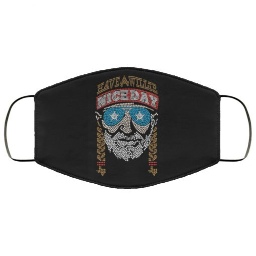 Willie nelson have a willie nice day anti pollution face mask 3