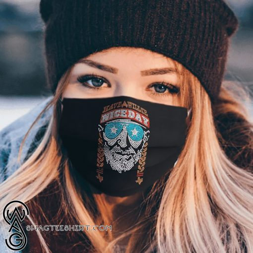 Willie nelson have a willie nice day anti pollution face mask