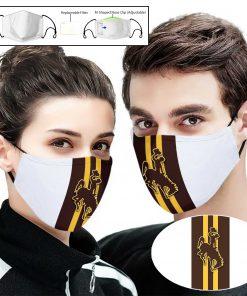 Wyoming cowboys football full printing face mask 1