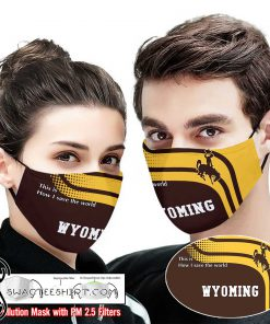 Wyoming cowboys this is how i save the world face mask