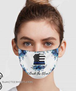 Back the blue police thin blue line usa flag face mask