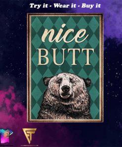 Bear nice butt vintage poster
