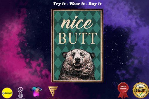 Bear nice butt vintage poster - Copy (2)