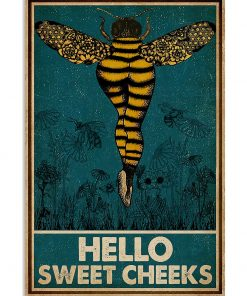 Bee hello sweet cheek vintage poster 1