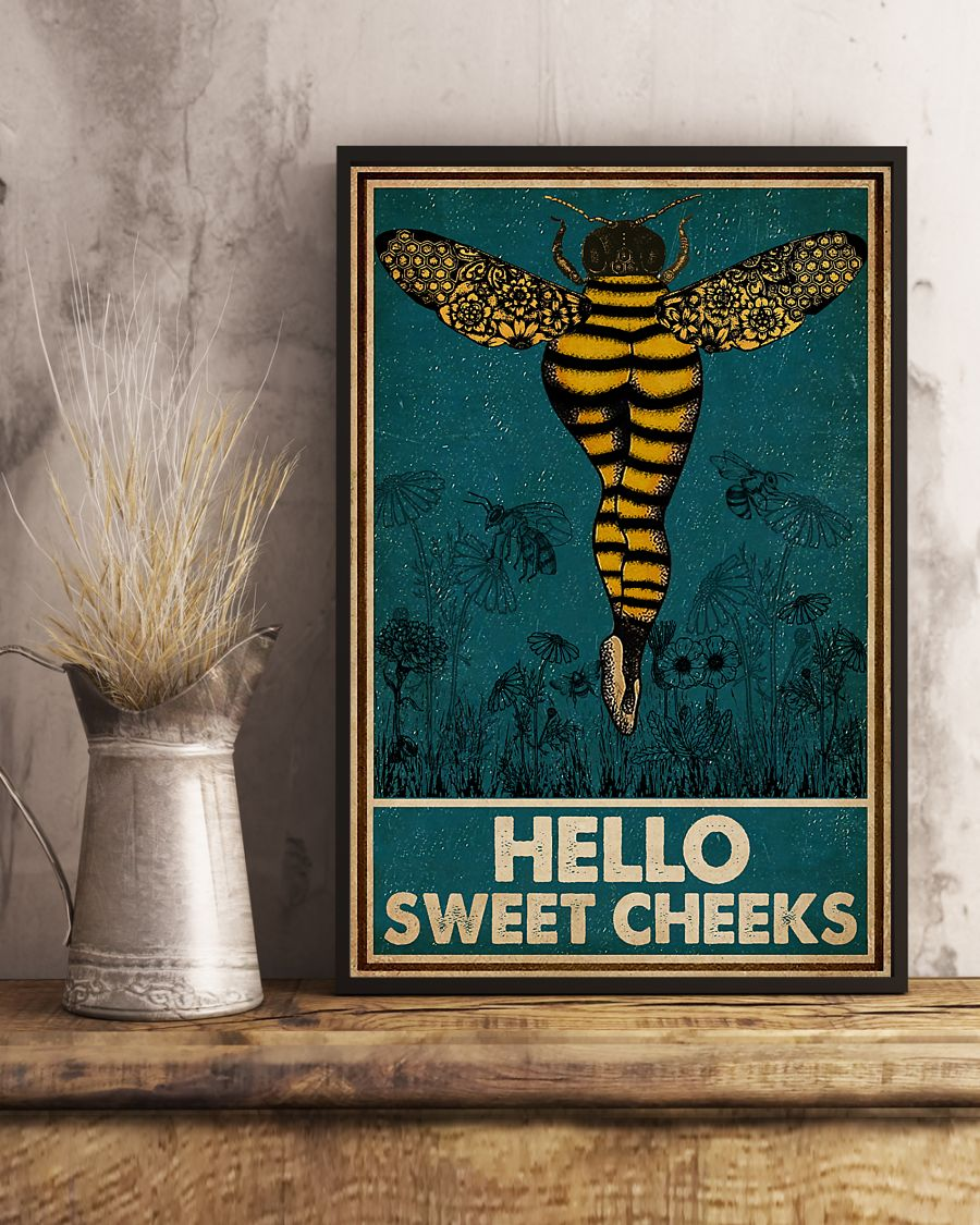 Bee hello sweet cheek vintage poster 2