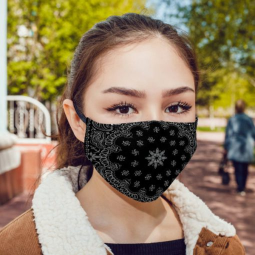 Black bandana anti pollution face mask 1