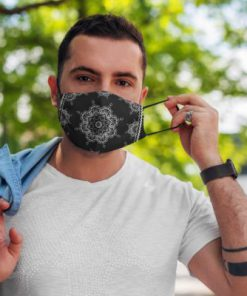 Black bandana anti pollution face mask 3
