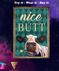 Cow nice butt vintage poster - Copy