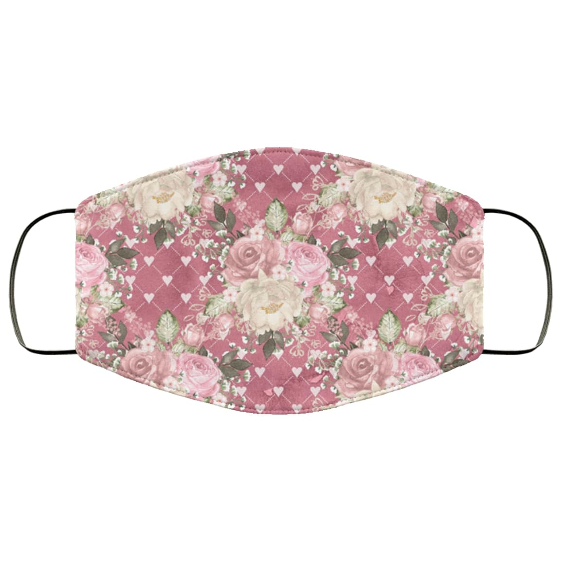 Flowers roses anti pollution face mask 1