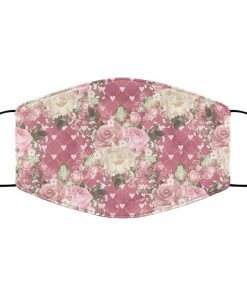 Flowers roses anti pollution face mask 2