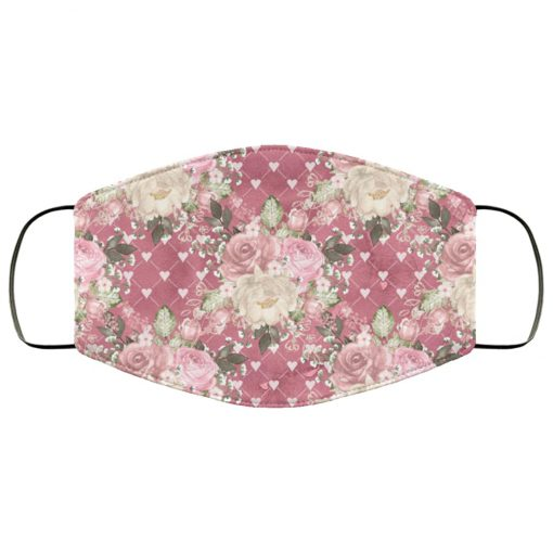 Flowers roses anti pollution face mask 3