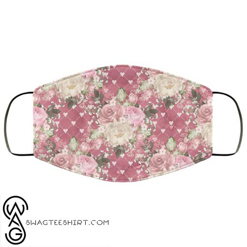 Flowers roses anti pollution face mask
