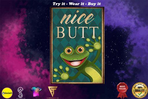 Frog nice butt vintage poster - Copy (3)