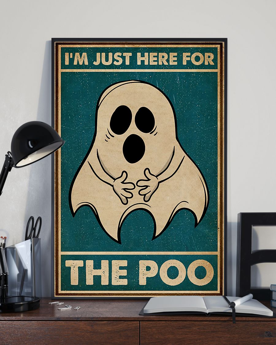 Ghost im just here for the poo vintage poster 3