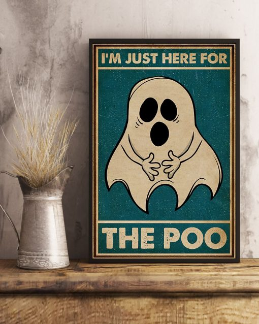 Ghost im just here for the poo vintage poster 4