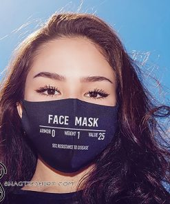 Light armor armor 1 weight 0 value 25 anti pollution face mask