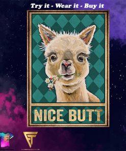 Llama nice butt vintage poster - Copy (2)