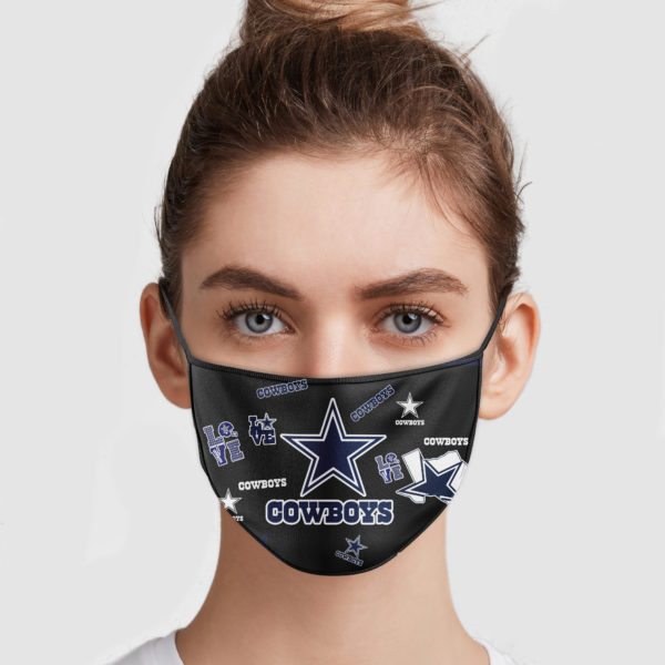 NFL dallas cowboys love anti pollution face mask 1