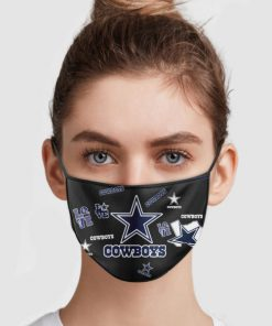NFL dallas cowboys love anti pollution face mask 2