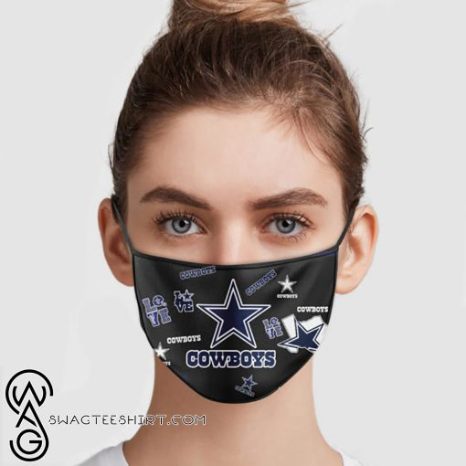 NFL dallas cowboys love anti pollution face mask