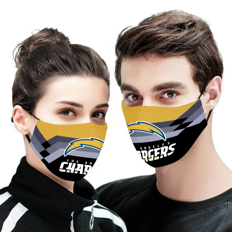 NFL los angeles chargers anti pollution face mask 1