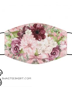 Pretty pink floral anti pollution face mask