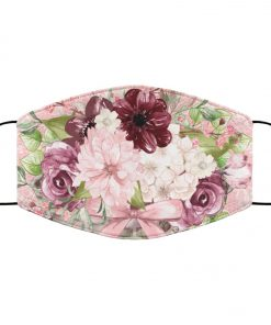 Pretty pink floral anti pollution face mask 3
