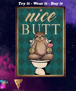 Sloth nice butt vintage poster - Copy