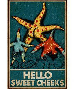 Starfish hello sweet cheek vintage poster 1
