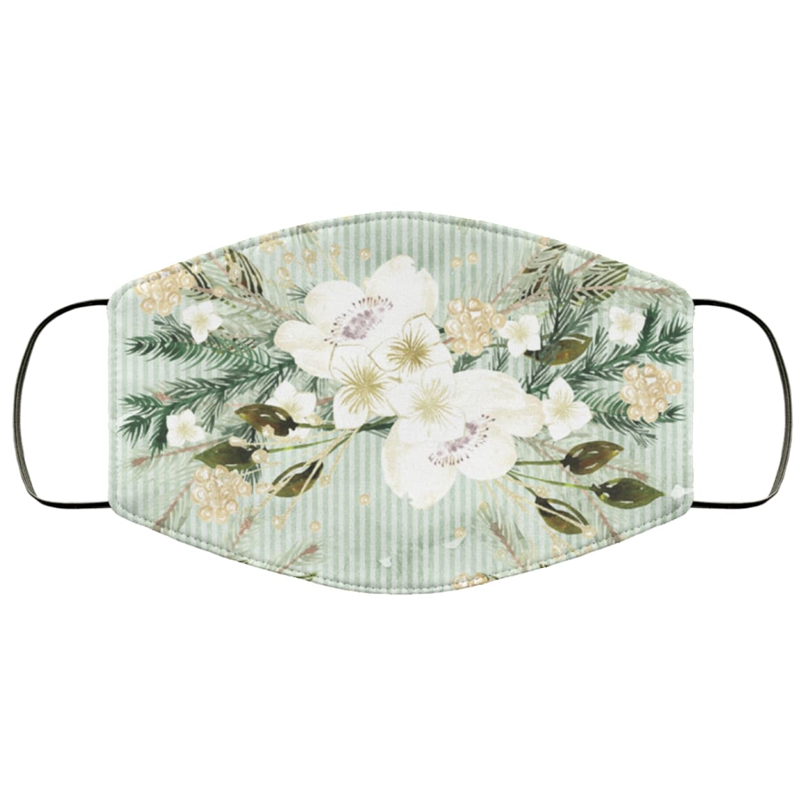 Tropical flowers art anti pollution face mask 1
