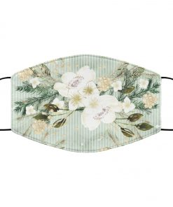 Tropical flowers art anti pollution face mask 3