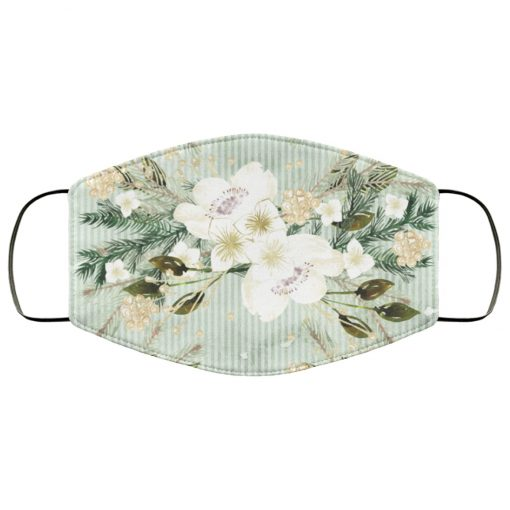 Tropical flowers art anti pollution face mask 4