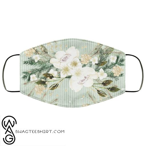 Tropical flowers art anti pollution face mask