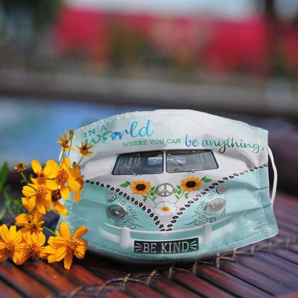 Volkswagen in a world where you can be anything be kind anti pollution face mask 2