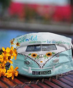 Volkswagen in a world where you can be anything be kind anti pollution face mask 3