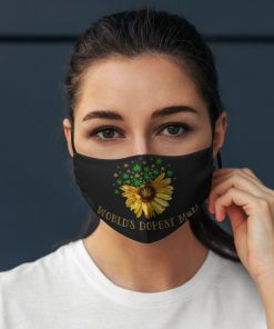 Worlds dopest mom weed sunflower anti pollution face mask 2