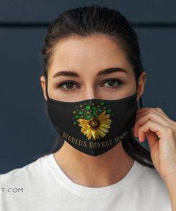 Worlds dopest mom weed sunflower anti pollution face mask