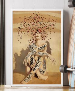 a girl and music beautiful strong smart good poster 2