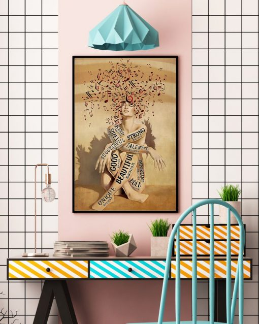 a girl and music beautiful strong smart good poster 3