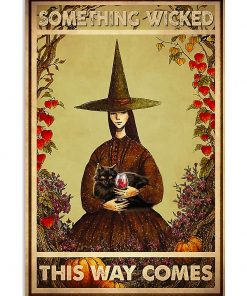 black cat and witch something wicked this way comes vintage poster 4