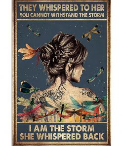 girl and dragonfly they whispered to her you cant withstand the storm poster 1