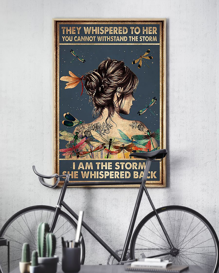 girl and dragonfly they whispered to her you cant withstand the storm poster 4