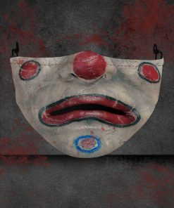 halloween clown face all over printed face mask 1