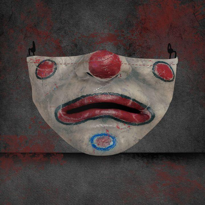 halloween clown face all over printed face mask 2