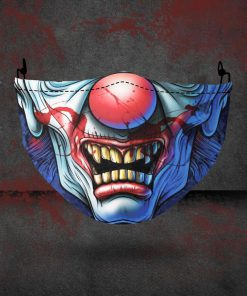 halloween evil clown all over printed face mask 2