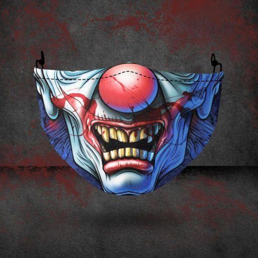halloween evil clown all over printed face mask 4